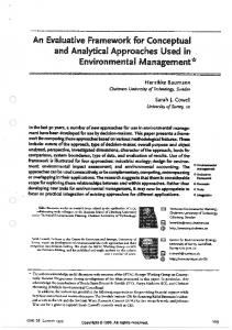 Conceptual Aproaces in - Chalmers Publication Library