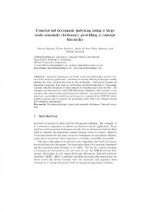 Conceptual document indexing using a large scale ... - Semantic Scholar