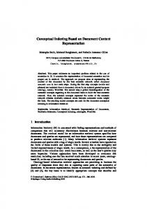 Conceptual Indexing Based on Document Content ... - Semantic Scholar