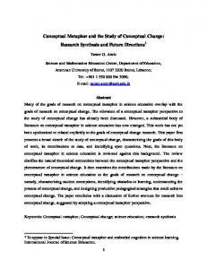 Conceptual Metaphor and the Study of Conceptual