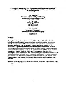 Conceptual Modeling and Dynamic Simulation of ... - CiteSeerX
