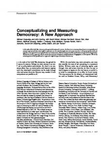 Conceptualizing and Measuring Democracy - people - Boston ...