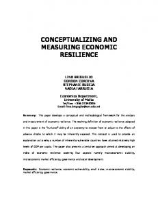 conceptualizing and measuring economic resilience - University of Malta