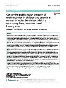 Concerning public health situation of under-nutrition in ... - BMC Nutrition