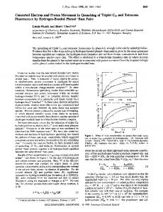 Concerted Electron and Proton Movement in Quenching of Triplet ...