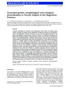 Concerted genetic, morphological and ecological diversification in ...