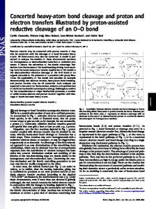Concerted heavy-atom bond cleavage and proton and electron ...