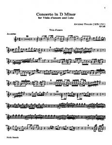 Concerto in D Minor - Sheet Music Archive