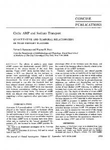CONCISE PUBLICATIONS Cyclic AMP and Sodium Transport - NCBI