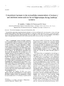 Concomitant increases in the extracellular ... - Science Direct