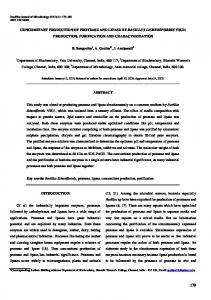 concomitant production of protease and lipase by bacillus ... - scielo.br