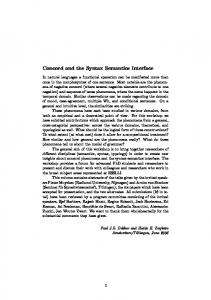 Concord and the Syntax Semantics Interface