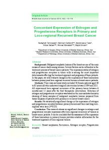 Concordant Expression of Estrogen and Progesterone Receptors in ...