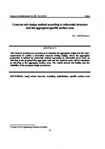 Concrete mix design method according to referential structure and the