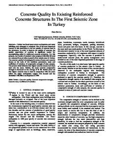 Concrete Quality In Existing Reinforced Concrete ... - DergiPark