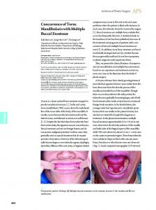 Concurrence of Torus Mandibularis with Multiple Buccal Exostoses