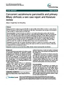 Concurrent autoimmune pancreatitis and primary ... - BioMedSearch