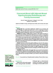 Concurrent Boost with Adjuvant Breast Hypofractionated ... - CiteSeerX