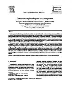 Concurrent engineering and its consequences - Semantic Scholar