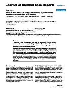 Concurrent pulmonary zygomycosis and Mycobacterium tuberculosis ...