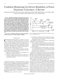 Condition Monitoring for Device Reliability in Power ... - IEEE Xplore
