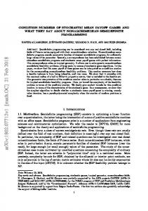 Condition numbers of stochastic mean payoff games and what they ...