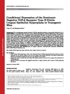 Conditional expression of the dominantnegative ... - Wiley Online Library