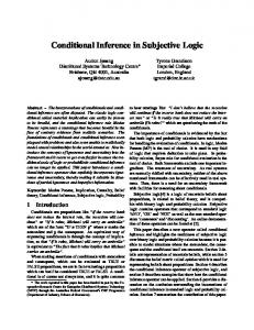 Conditional Inference in Subjective Logic