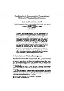 Conditioning in Decomposable Compositional ... - Semantic Scholar
