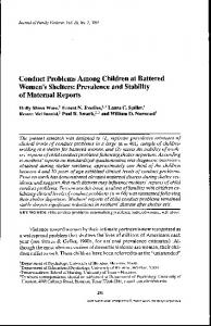 Conduct Problems Among Children at Battered ...
