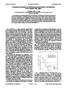 Conductance fluctuations of semiconductor ... - APS Link Manager