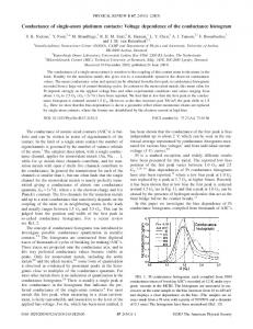 Conductance of single-atom platinum contacts ... - APS Link Manager