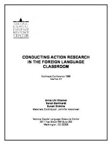 conducting action research in the foreign language classroom - NCLRC