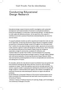 Conducting Educational Design Research - DSpace Open Universiteit
