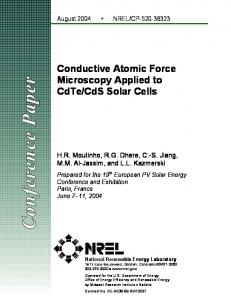 Conductive Atomic Force Microscopy Applied to CdTe/CdS ... - NREL