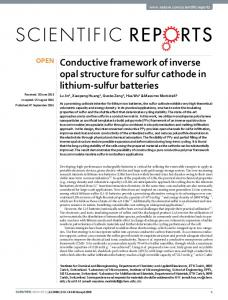 Conductive framework of inverse opal structure for ... - CyberLeninka