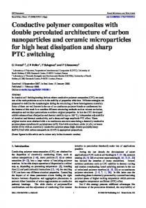 Conductive polymer composites with double percolated ... - CiteSeerX