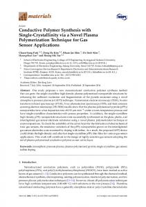Conductive Polymer Synthesis with Single