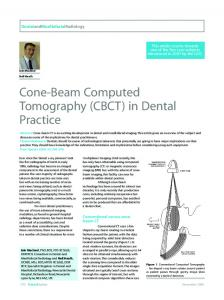 Cone-Beam Computed Tomography (CBCT) in