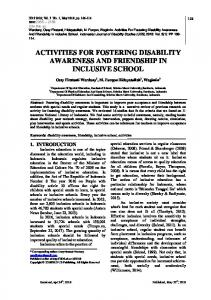 Conference Full Paper template - indonesian journal of disability ...