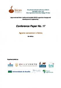 Conference Paper No. 17