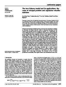 conference papers The two-Yukawa model and its applications: the ...