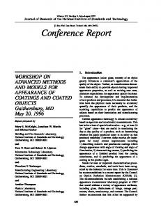 Conference Report - NIST Page