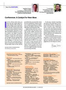 Conferences: A Catalyst for New Ideas - IEEE Xplore