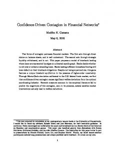 Confidence-Driven Contagion in Financial Networks (PDF Download ...