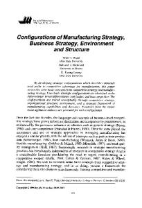 configurations of strategy and structure in Start studying ita 15 learn in terms of global business strategy and structure have tended to use a _____ systems configuration, and seem now.