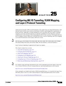 Configuring 802.1Q and Layer 2 Protocol Tunneling - Cisco