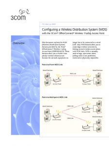 Configuring a Wireless Distribution System (WDS)