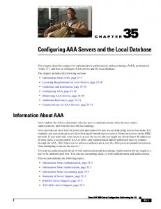 Configuring AAA Servers and the Local Database - Cisco