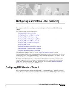 Configuring Multiprotocol Label Switching - Cisco